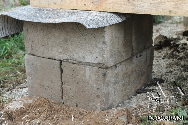 Столбчатый фундамент из блоков своими руками