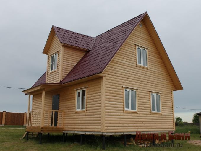 фото дома из бруса 7х8