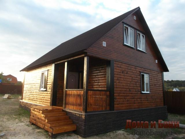 фото деревянного дома в Истре