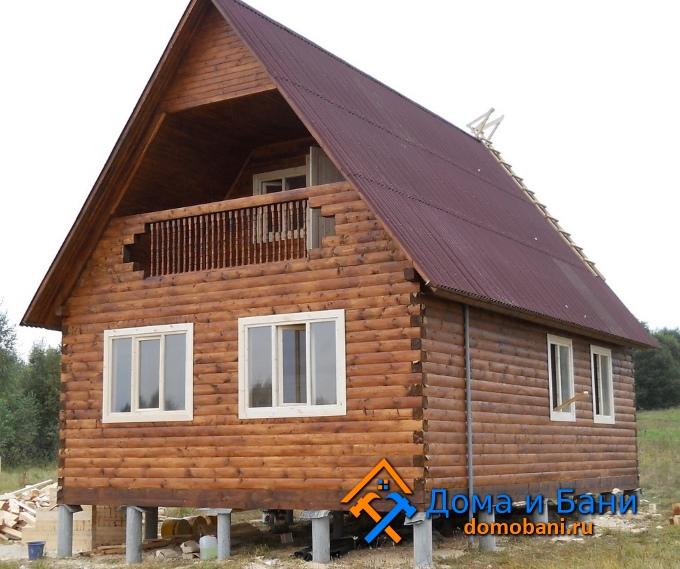 фото одноэтажного дома с мансардой