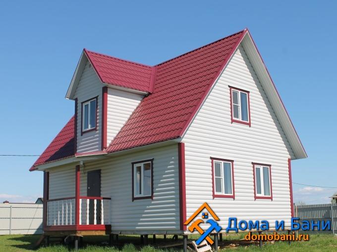 фото дом из бруса 7х8